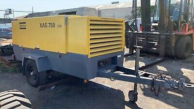 2010 Atlas Copco Xas 750 Diesel Air Compressor Trailer