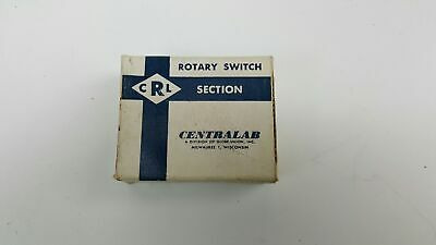 Centralab Ceramic Rotary Switch Section - Nos - Qsd