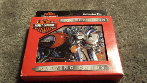 Harley Davidson Playing Cards Collectors Tin 2 pack