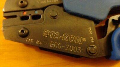 Tb Thomas Betts Sta-kon Sta Kon Erg-2003 Full Rachet Hand Crimp Tool Erg2003