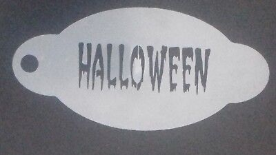3 x Halloween word face painting stencils   reusable over and over
