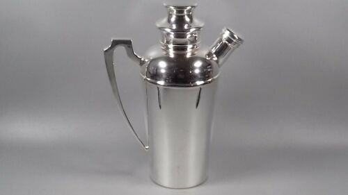 VINTAGE ART DECO COCKTAIL SHAKER SILVER PLATED