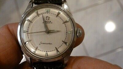 VINTAGE 1952 MENS SS OMEGA AUTO SEAMASTER BUMPER WATCH EXCELLENT RUNNING