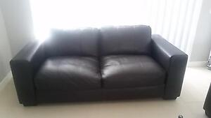 Leather 2. seater sofa. 1+1 Campbelltown Campbelltown Area Preview
