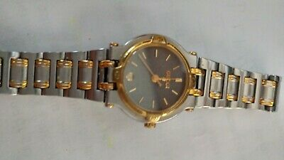 Women's Gucci Swiss 9000L Two-Tone Stainless Steel Date Watch Quartz Gray Face