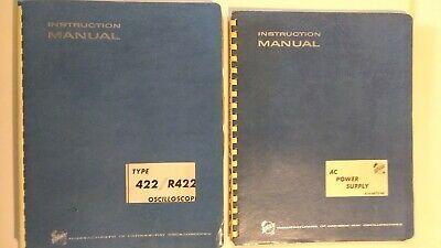 Lot Tektronix Instruction Manual Type 422 R422 Oscilloscope Plus Ac Pwr Suply