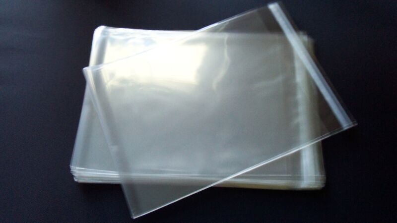 100 8 3/4 x 11 1/4 Clear Resealable Cello Cellophane Sleeve 8.5x11 Prints 1.6mil