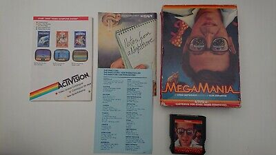 MEGAMANIA - ATARI 400/800/65 XE XL ROM Cartridge - BOXED - TESTED & WORKING