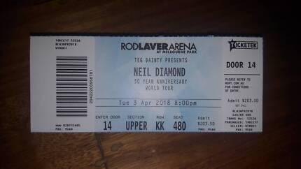 NEIL DIAMOND in Melbourne - Rod Laver Arena -3/04/18