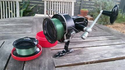 Mitchell 303 salt water fishing reel and extra spool