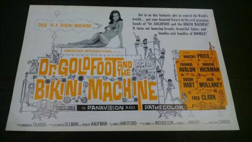 1965 Dr Goldfoot and the Bikini Machine pressbook Vincent Price Frankie Avalon