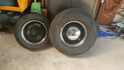 Hotrod wheels steel smoothie with tyres 15x8 n x4 Port Fairy Moyne Area Preview