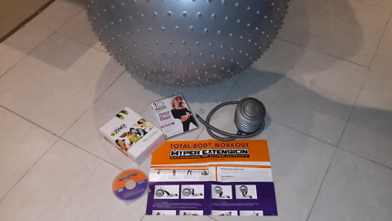 Exercise ball and DVD'S