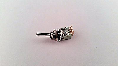 ALCO SWITCH TT11DG-RA-9T1/4 SPDT ON-ON .4A @ 20VDC TINY TOGGLE R/A PC MOUNT
