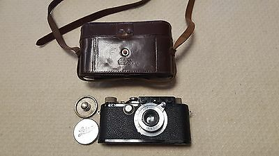 Leica Kamera  DRP Ernst leitz Wetzlar camera mit Lederhülle