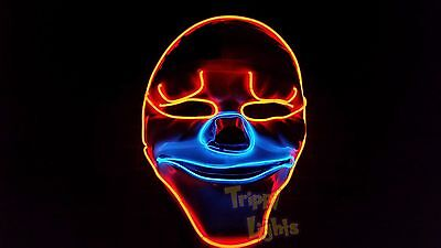 GAME PAYDAY 2 THE HEIST DALLAS HALLOWEEN COSTUME PARTY HORROR PROP Clown MASK!