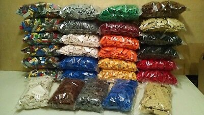 Clean & Fun Lot of 300 Pieces of Lego Bricks Plates Pieces Parts CHOOSE -