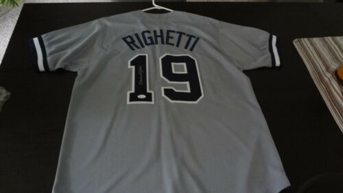 DAVE RIGHETTI AUTOGRAPHED NEW YORK  JERSEY XL