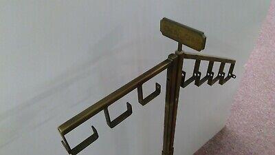 Original Heavy Brass Coach Retail Store Display Fixture. Ajustable. Nice