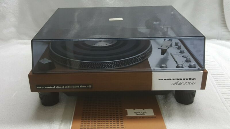 MARANTZ 6300 TURNTABLE ALL ORIGINAL WITH MANUAL ONE TIME OWNER