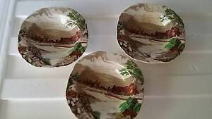3 alfred meakin 'tintern ' hand painted bowls Banora Point Tweed Heads Area Preview