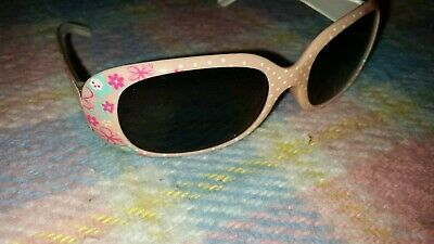 Sonnenbrille für Kleinkinder rosa Blumen mint Mädchen
