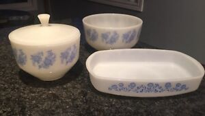 Vintage Federal Milk Glass Bowls And Dishes