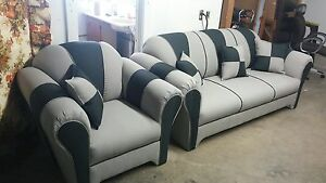 Beautiful 2-tone Sofa set For Sale !!