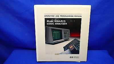 Hp 1630adg Logic Analyzer Operating Programming Manual
