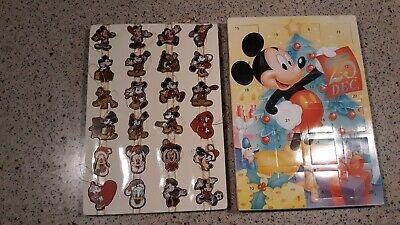 Walt Disney Company Kurt S. Adler Mickey Mouse Advent Wooden Ornament Calendar