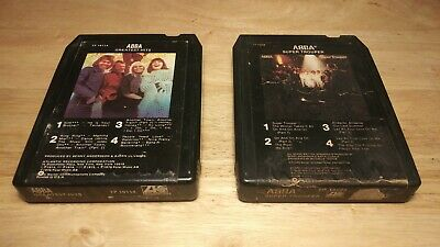 Vintage ABBA 8 Track Tape Cartridge Lot Super Grouper Greatest Hits