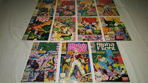 Alpha Flight 80 81 82 83 84 85 86 87 88 89 90 VF to VF- 8.0 to 7.5