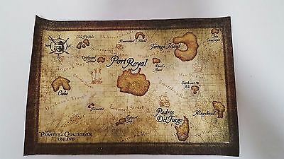 DISNEY PIRATES OF THE CARIBBEAN ONLINE LIMITED EDITION CLOTH MAP