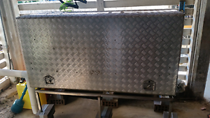 Tool box large checker plate alumiun  for tradie ute Stafford Heights Brisbane North West Preview