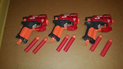 3 Lot Nerf Mega Guns Big Shock 6 Darts