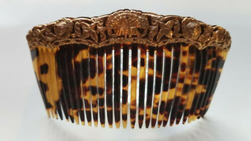 antique comb peineta payneita Philippines Luzon tortoise gold 19th century