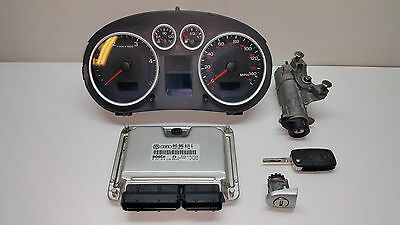 Audi A2 2002 00-05 1.4 TDi Diesel ECU Engine SET Speedo Ignition lock 0281010220
