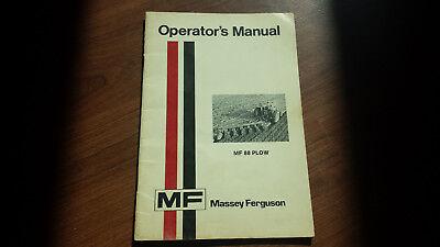 Original Massey Ferguson Mf88 Plow Operators Manual 1448-264-m1