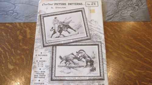 Leather Craft Craftool PICTURE PATTERNS #21 LEATHER CARVING Vintage Patterns NEW