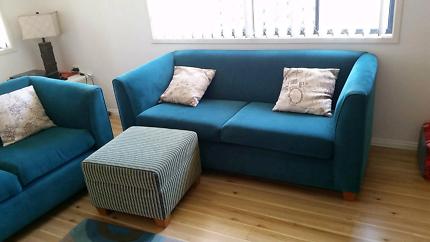 2 x sofa & footstool