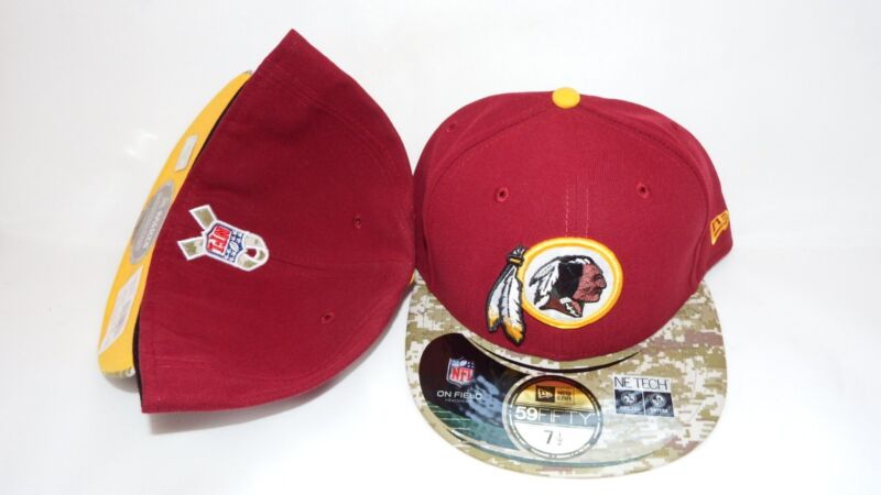 NWT NEW ERA HAT CAP FITTED NFL WASHINGTON REDSKINS SIZE 7 3/4 ONFIELD RED CAMO