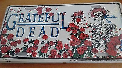 Grateful Dead Bertha Skeleton & Roses License Plate - Dead Rose
