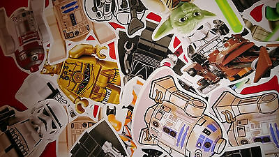 50 MINI LEGO STAR WARS VINYL STICKERS PARTY BAG FILLERS - Lego Star Wars Party