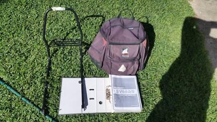 Suzuki SV650 Ventura luggage rack and bag, free light and manual.