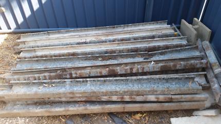 Steel frame posts