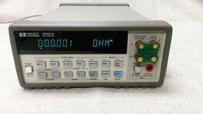 Hp Agilent Keysight 34401a 6.5 Digit Digital Multimeter Calibrated