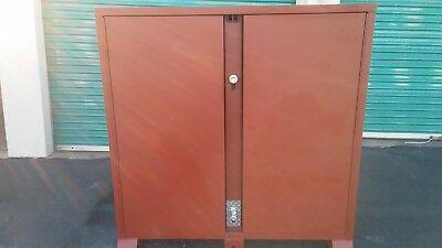 Jobsite Storage Cabinet Brown Jobox 1-698990