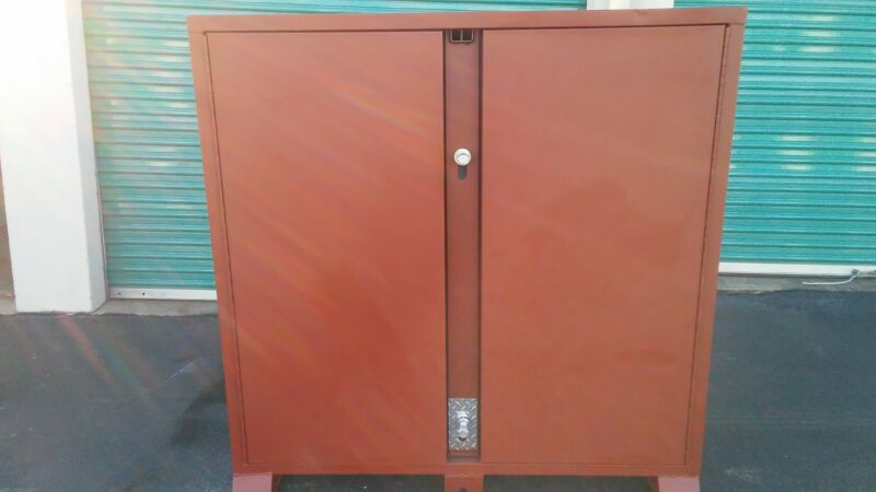 Jobsite Storage Cabinet, Brown ,Jobox, 1-698990