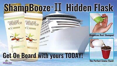 ShampBooze II Cruise Flask That Dispenses Real Shampoo