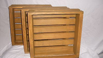 Wood Crates  Set  of 3